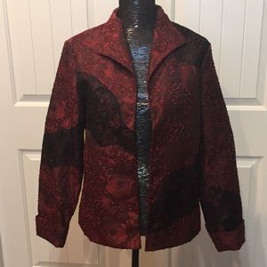 Coldwater Creek NWT Black and red jacket size M